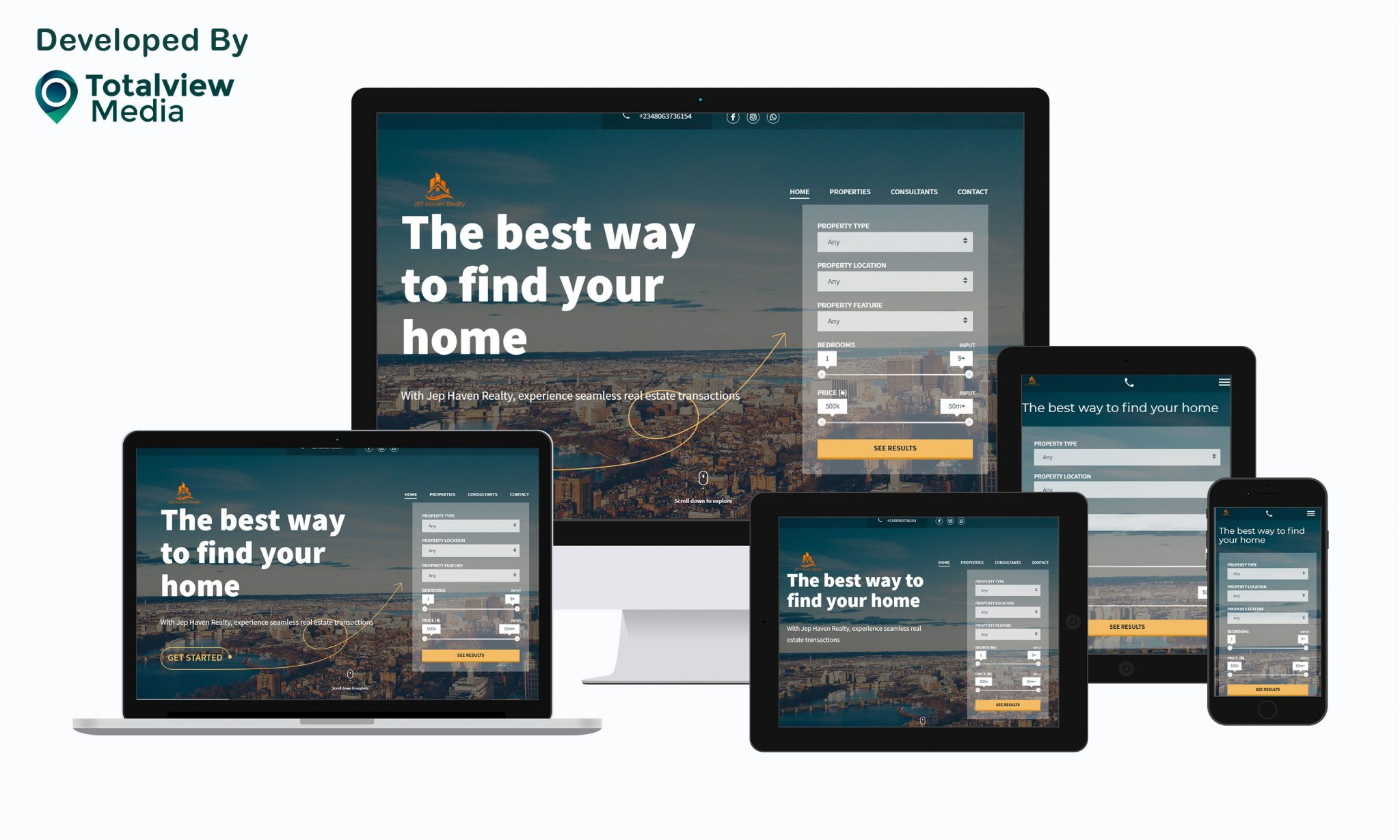 real estate website by totalview media